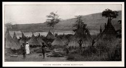 1911  --  CONGO BELGE  VILLAGE INDIGENE CONTRE BANZYVILLE   3P847 - Old Paper