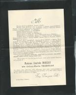 F.P. Décés De Mme Anatole Moreau  Née Céline Maria Tharreau  Au Perreux Le 24/03/1904   Lh14509 - Obituary Notices