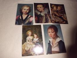LOT DE 5 CARTES ART..TABLEAUX ..PEINTURE....COMITE NATIONAL DE L'ENFANCE - Cartes Postales