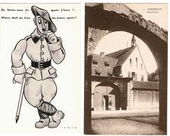 Lot 10 CPA & CPSM France  / Schlestadt, Fère-Champenoise, Coye-la-Forêt, Saugues ... / A Voir !!! - Cartes Postales