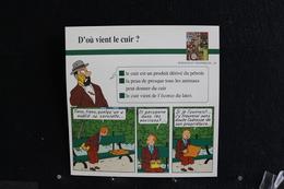 Fiche Atlas,TINTIN (extrait De, Le Ssepte D'Ottokar) - Sciences Et Techniques N°48 D' Où Vient Le Cuir ? - Collections