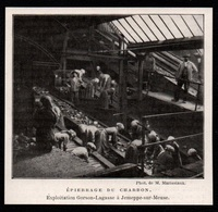 1911 - JEMEPPE SUR MEUSE  EXPLOITATION GORSON LAGASSE  EPIERRAGE  CHARBON  3P850 - Vieux Papiers