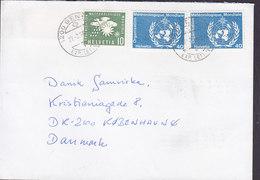United Nations (OMM/WMO) Organisation Meteorologique GENEVE 1990 Cover Brief Denmark - Genf - Büro Der Vereinten Nationen