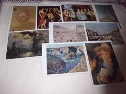 LOT DE 9 CARTES ART..TABLEAUX ..PEINTURE....CARTES LOTERIE NATIONALE MUSEE DE REIMS - Cartes Postales