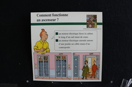 Fiche Atlas,TINTIN (extrait De, L'Affaire Tournesol) - Sciences Et Techniques N°62 Comment Fonctionne Un Ascenseur ? - Collections