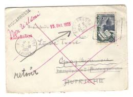 Lettre Sans Corres, Biscarrosse à Graz Autriche, Non Réclamé Taxe Autriche, Linéaire Biscarrose - Marcophilie (Lettres)