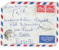 Lettre Sans Corres, Saint Trojan Les Bains à  Le Caire, Refusé  Taxe Egypte 1955 - Marcophilie (Lettres)