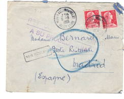 Lettre Sans Corres, Montfaucon Du Velay à Madrid  Non Réclamé  1955 - 1921-1960: Période Moderne