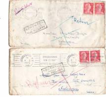 Lettre Sans Corres, 2 Piéces, Draguignan, Pornichet Pour Salomique NON RECLAME 1955 - 1921-1960: Période Moderne