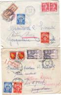 Lettre Sans Corres, 2 Piéces, Paris Et Reims Pour Yougoslavie, Zagreb RETOUR Voir Scans - Marcophilie (Lettres)