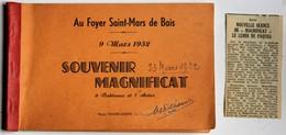 Rare 35 Bais Carnet Foyer Saint Marse Mars Salle De Spectacle 10 Photographies Souvenir Magnificat Mars 1952 Touin Guiné - France