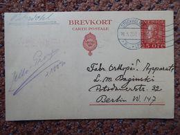 Schweden Sweden Ganzsache Stationery  GS-Karte 25 Oere P 42 (90 €) - Postal Stationery