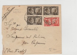 LETTERA 1941 CON 3X10+20 CENT. FRATELLANZA D'ARMI TIMBRO FORLI' (Z2048 - Poststempel