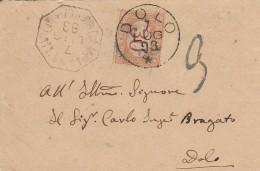 LETTERA 1893 CON SEGNATASSE CENT.30 TIMBRO DOLO  (Z2135 - Storia Postale