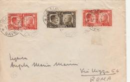 LETTERA 1941 CON 2X20+10 CENT FRATELLANZA D'ARMI TIMBRO FINALPIA SAVONA (Z2174 - 1900-44 Vittorio Emanuele III
