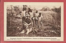 Chasses En Afrique Occidentale Française  / Chasse Au Lion - Cartes Postales