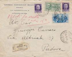 RACCOMANDATA 1941 CON 2X50+1,25+1,25 FRATELLANZA D'ARMI-TIMBRO AMBULANTE (Z2199 - Poststempel
