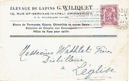 PK Publicitaire GRIMBERGEN 1941 - G. WILIQUET - Elevage De Lapins - Grimbergen
