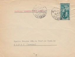 LETTERA 1952 CON 12 L. ITALIA AL LAVORO TIMBRO AREZZO (Z2203 - 6. 1946-.. Repubblica