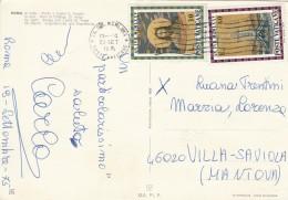 CARTOLINA 1975 POSTE VATICANE 30+40 L. - ROMA DI NOTTE (Z2344 - Indonesia