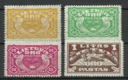 LITAUEN Lithuania 1924 Michel 220 - 223 * - Lituania
