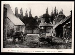 1911  --  BELGIQUE   LA FERME DE LA PERRUQUE A BARBENTIN PRES DE BEAUMONT  3P859 - Old Paper