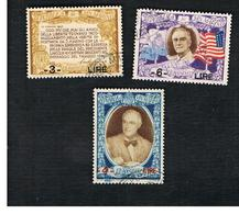 SAN MARINO - UNIF. 307.309 - 1947 PRESIDENTE U.S.A. F.D. ROOSEVELT (COMPLET SET OF 3 OVERPRINTED) -  USATI (USED°) - San Marino