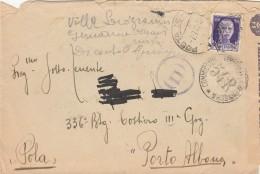 LETTERA 1943 CON 50 CENT. CENSURA TIMBRO PORTO ALBONA POLA (Z2388 - 1900-44 Victor Emmanuel III.