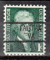 USA Precancel Vorausentwertung Preo, Locals Virginia, Fairfax 841 - Vereinigte Staaten