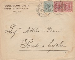 LETTERA 1920 CON 5+2X10 CENT. TIMBRO MESS. FIRENZE MILANO-PONTE A EGOLA (Z2484 - Marcophilie
