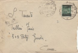 LETTERA LUOGOTENENZA 1945 CON LIRE 2 SS TIMBRO SIENA CUNEO (Z2511 - 5. 1944-46 Luogotenenza & Umberto II