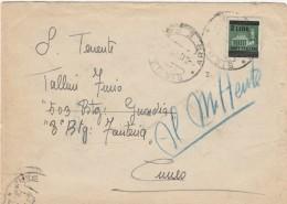 LETTERA 1945 LUOGOTENENZA CON 2 LIRE SS TIMBRO SIENA CUNEO (Z2524 - Storia Postale