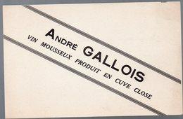Buvard  ANDRE GALLOIS Vin Mousseux Produit En Cuve Close  (PPP9328) - Food