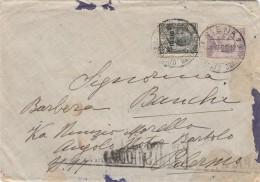 LETTERA CATTIVO STATO 1925 CON 10 SS 15 +50 CENT TIMBRO SIENA-PALERMO (Z2544 - Storia Postale