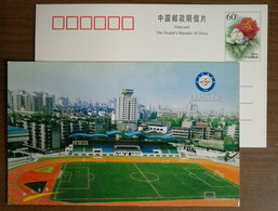 Soccer Football Field,China 2002 Sichuan University Of Electronic Science And Technology Advertising Pre-stamped Card - Fútbol