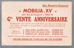 Paris Rue De Vaugirard : Buvard MOBILIA XVe VENTE ANNIVERSAIRE  (PPP9325) - M