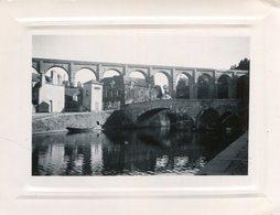 PHoto Prise à Dinan En Août 1950 Avec Vue Du Viaduc  Et Du Pont - Places