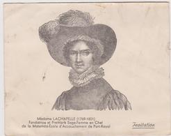 Madame LACHAPELLE  Invitation à Une Vente De Charité Au Profit De L'Association Amicale Des Accoucheuses - Old Paper