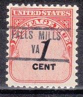 USA Precancel Vorausentwertung Preo, Locals Virginia, Falls Mills 853 - Vereinigte Staaten