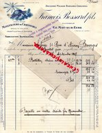 49- LE MAY SUR EVRE- RARE FACTURE FRANCIS BOSSARD FILS- CHAUVEAU-MANUFACTURE CHAUSSURES-M. LAFORGE BOURGES-1928 - Textile & Vestimentaire