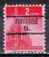 USA Precancel Vorausentwertung Preo, Locals Virginia, Fincastle 734 - Vereinigte Staaten