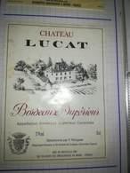 ETIQUETTE VIN BORDEAUX SUPERIEUR CHATEAU LUCAT RENGADE SAINT ANDRE DE CUBZAC 1991 - Bordeaux