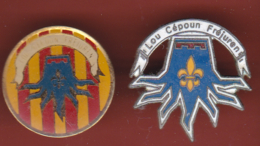 53908-lot De 2 Pins-Lou Cepoun.Frejus.association... - Associations