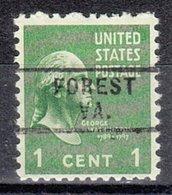 USA Precancel Vorausentwertung Preo, Locals Virginia, Forest 729 - Vereinigte Staaten