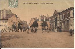 VERDUN SUR LE DOUBS PLACE DES HALLES - France