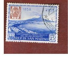 SAN MARINO - UNIF. 490   - 1958   CENTENARIO FRANCOBOLLI DEL REGNO DI NAPOLI -  USATI (USED°) - San Marino
