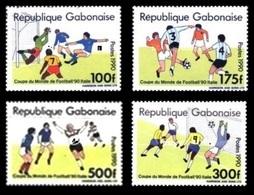 GABON 1989 1990 - MICHEL MI A/D 1063  A1063 B1063 C1063 D1063 SOCCER WORLD CUP COUPE MONDE FOOTBALL RARE ITALY MNH ** - World Cup