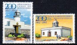 Uruguay 2002 Lighthouses Set Of 2, Ref. 119 - Lighthouses
