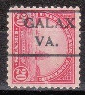 USA Precancel Vorausentwertung Preo, Locals Virginia, Galax 567-490 - Vereinigte Staaten