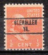 USA Precancel Vorausentwertung Preo, Locals Virginia, Glenallen 734 - Vereinigte Staaten